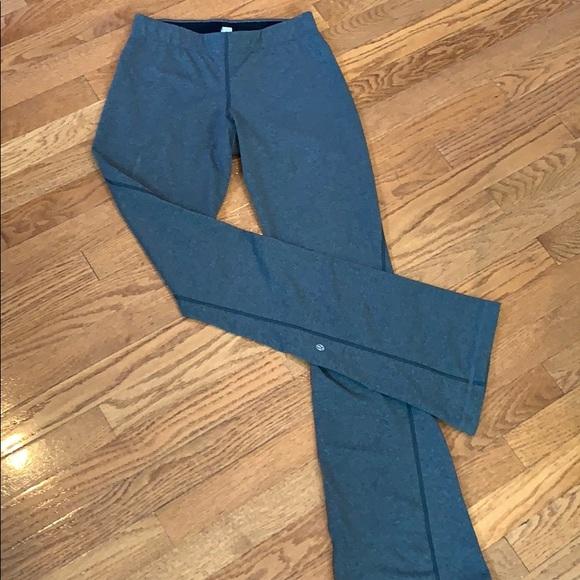 Lululemon yoga pants in heathered gray